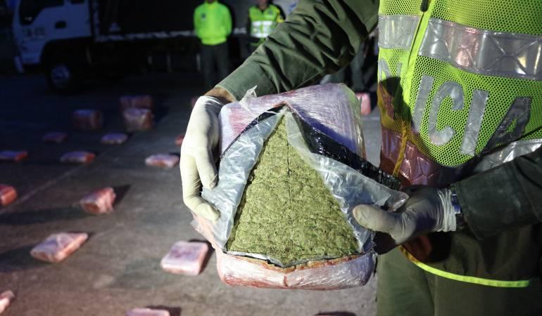Marihuana incautada en vías de Caldas