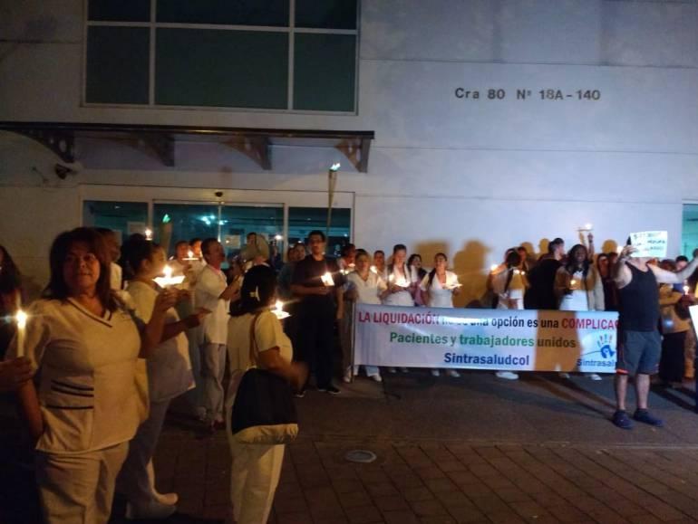protesta, medicos, esumed, la 80, Medellin, crisis, salud: Médicos no reciben el pago de nóminas e incluso insumos para trabajar