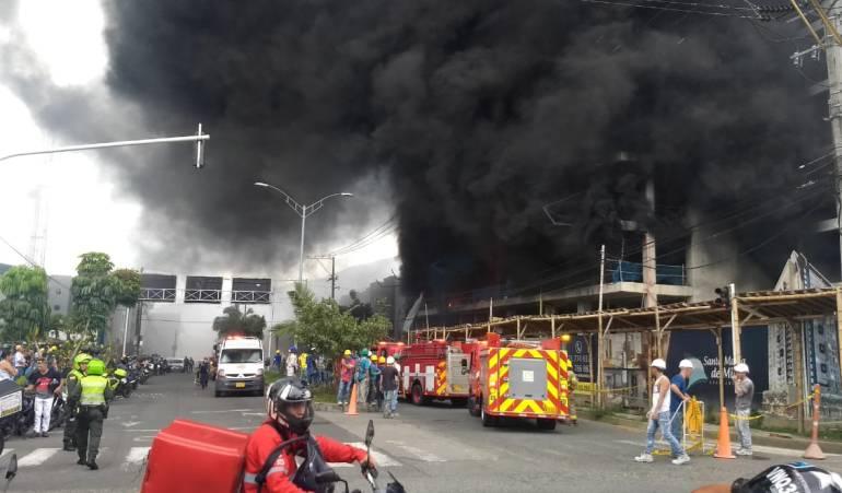 Incendio en una construcción de Dosquebradas generó pánico en la comunidad