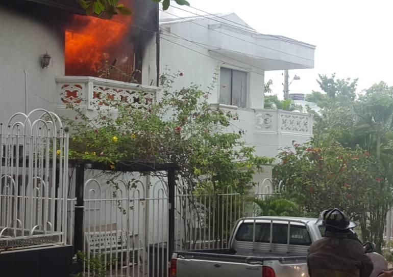 Incendio Cartagena: Incendio en una vivienda familiar del sur de Cartagena
