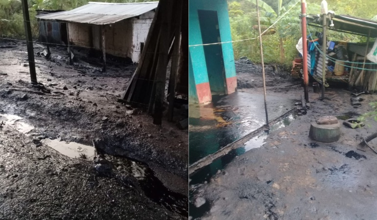 Derrame de petroleo por atentado en Teorama