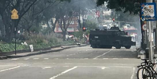 Disturbios Universidad Pedagógica: Disturbios en las inmediaciones de la Universidad Pedagógica