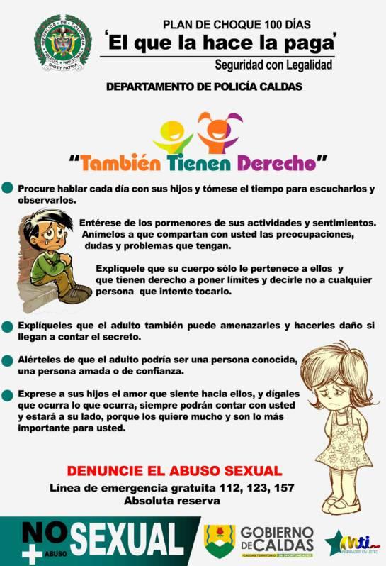 Campaña contra el abuso sexual en Caldas