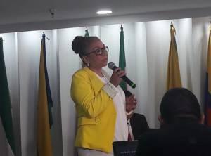 Gloria García, integrante de la terna del partido Liberal