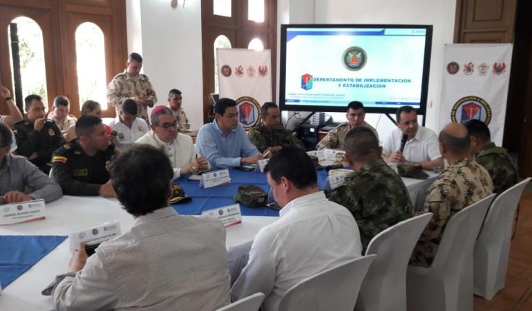 Reunión de autoridades para analizar situación de zona de reincorporación de Farc en Caño Indio