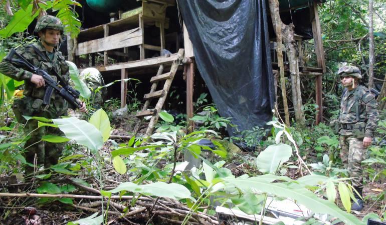 ELN en el sur de Bolívar: Ejército destruyó siete laboratorios de coca en el sur de Bolívar