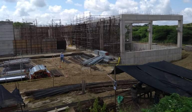 Agua potable en Cartagena: Nueva planta de agua potable en Cartagena avanza en un 44%