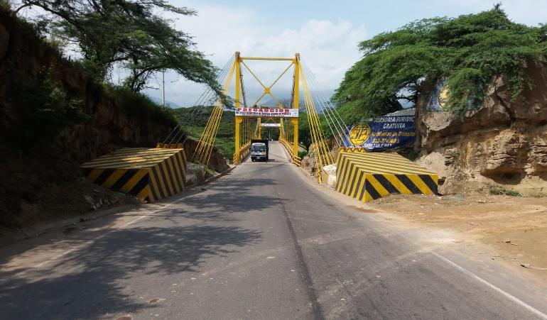 Puente Mariano Ospina Pérez sobre río Zulia