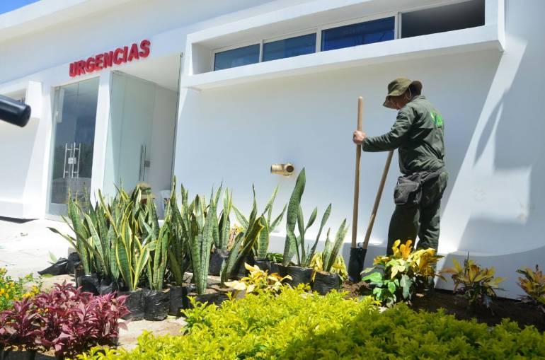 Centro de Salud de Taganga. Alcaldía de Santa Marta
