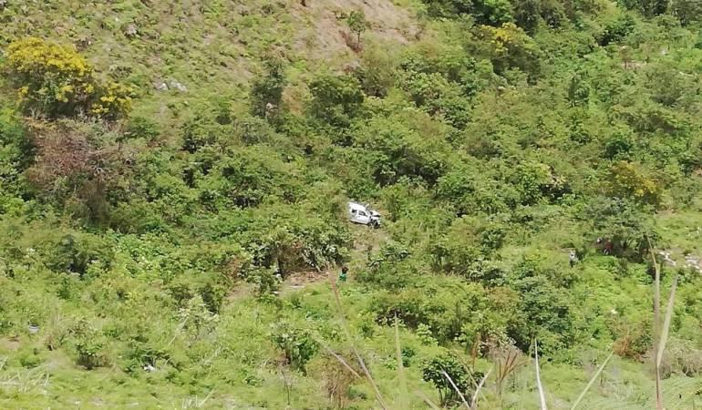 Accidente Páez- Cauca.  6 muertos y 10 heridos.