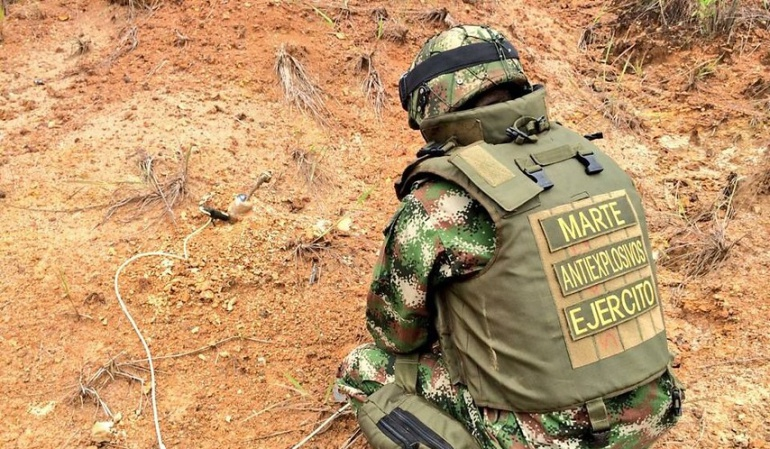 Incautan material explosivo en Cauca