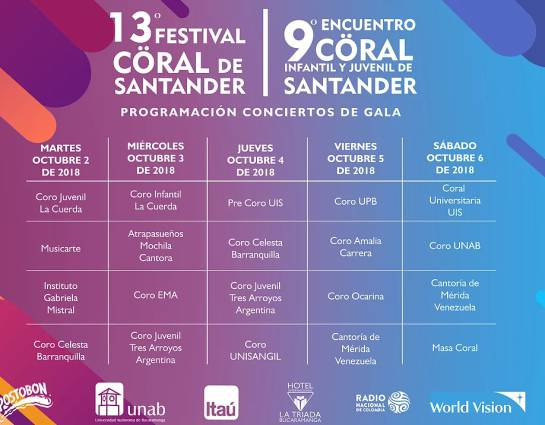 Décimo tercera edición del Festival Coral: El Festival Coral de Santander llega a su décimo tercera edición