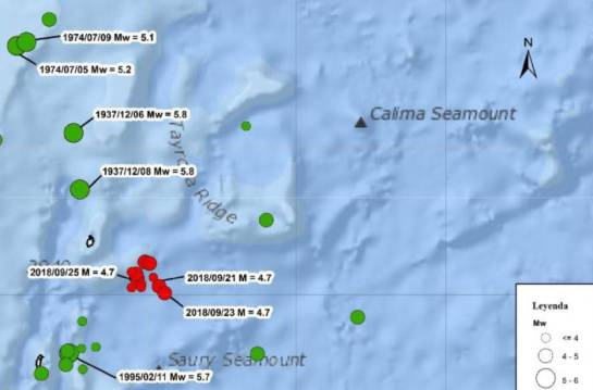 Zona de los sismos en el Caribe