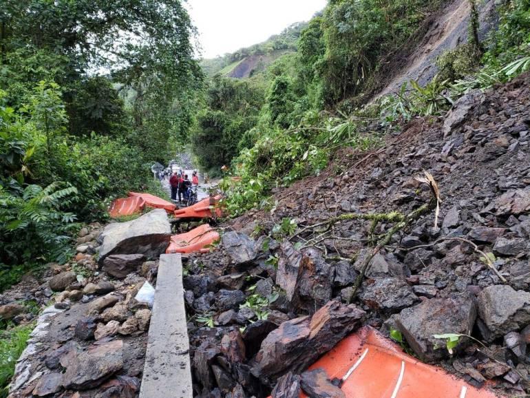 Fuertes lluvias obligan al cierre de la vía Boyacá-Casanare en las noches: Fuertes lluvias obligan al cierre de la vía Boyacá-Casanare en las noches