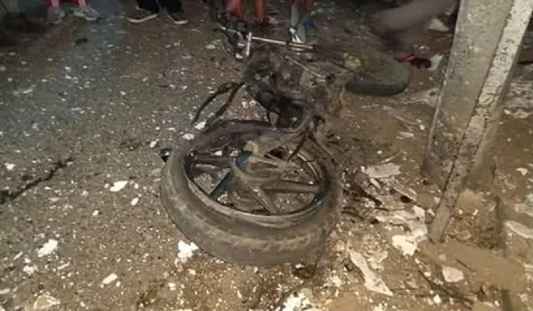 Motos con explosivos en el Cauca.: Una vez más, estallan moto con explosivos contra policía en el Cauca