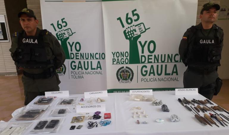 Elementos incautados en cárcel de Picaleña