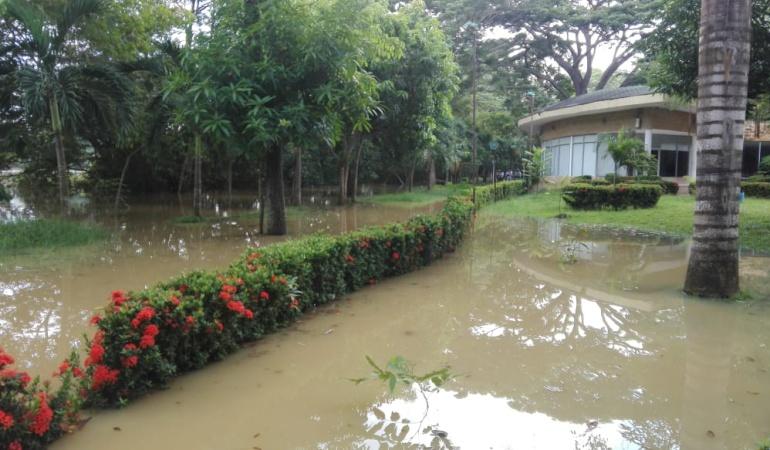 Lluvias en Montería: En Montería llovió por más de 6 horas