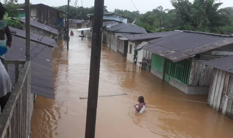 Inundaciones en Sipí, Chocó.