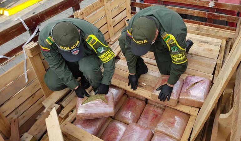 165.000 dosis de marihuana fueron incautadas en las vías del Quindío