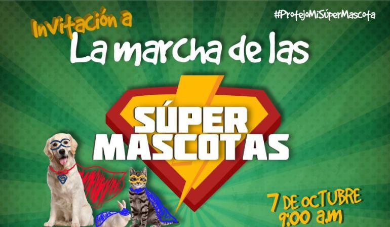 Tercera marcha de las mascotas en Manizales