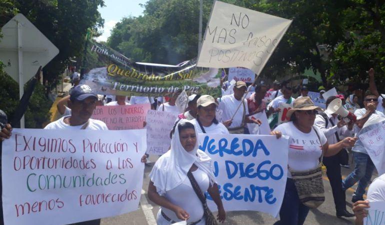 En zona rural de Santa Marta protestan por abandono del Estado