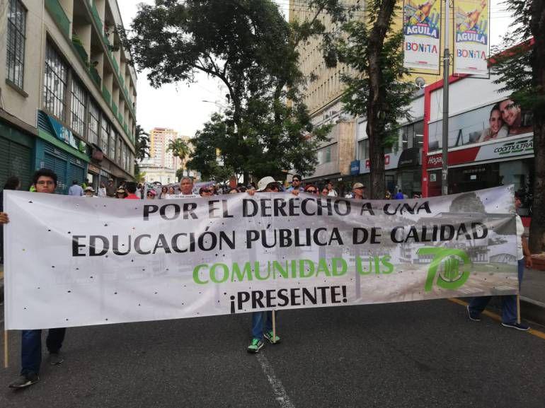 recorrido de la marcha a favor de la educación Bucaramanga: Así será el recorrido de la marcha a favor de la educación