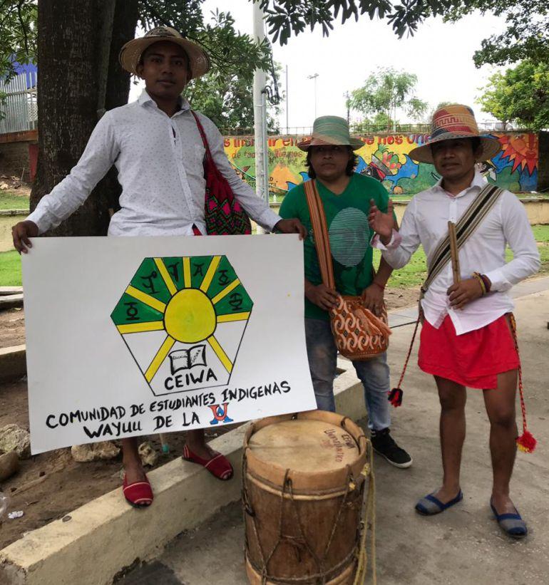marchas de estudiantes: Estudiantes Wayúu en Barranquilla se suman a marchas