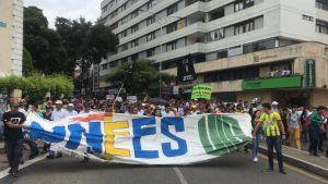 Marcha nacional por la educación en Bucaramanga: Normalidad en multitudinaria marcha por la educación en Bucaramanga
