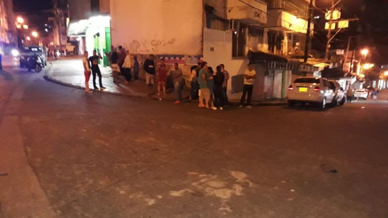 atentado buenaventura: Atentado con granada en zona comercial de Buenaventura
