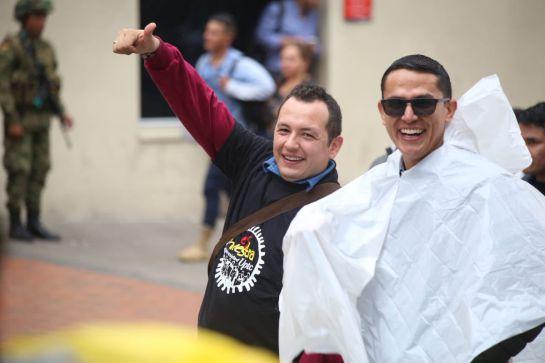 Gobernador y congresista campesino de Boyacá marcharon con universitarios: Gobernador y congresista campesino de Boyacá marcharon con universitarios
