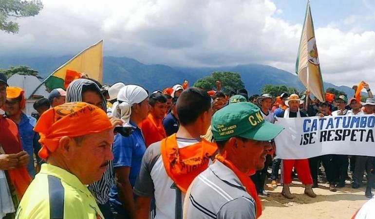 Protesta de campesinos.