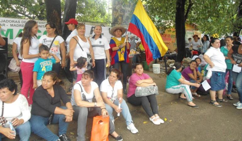 Protestas anteriores de madres comunitarias del ICBF en Cúcuta