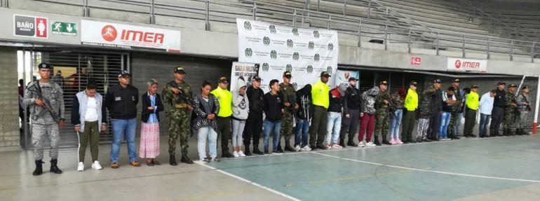 17 delincuentes capturados en el oriente de Antioquia