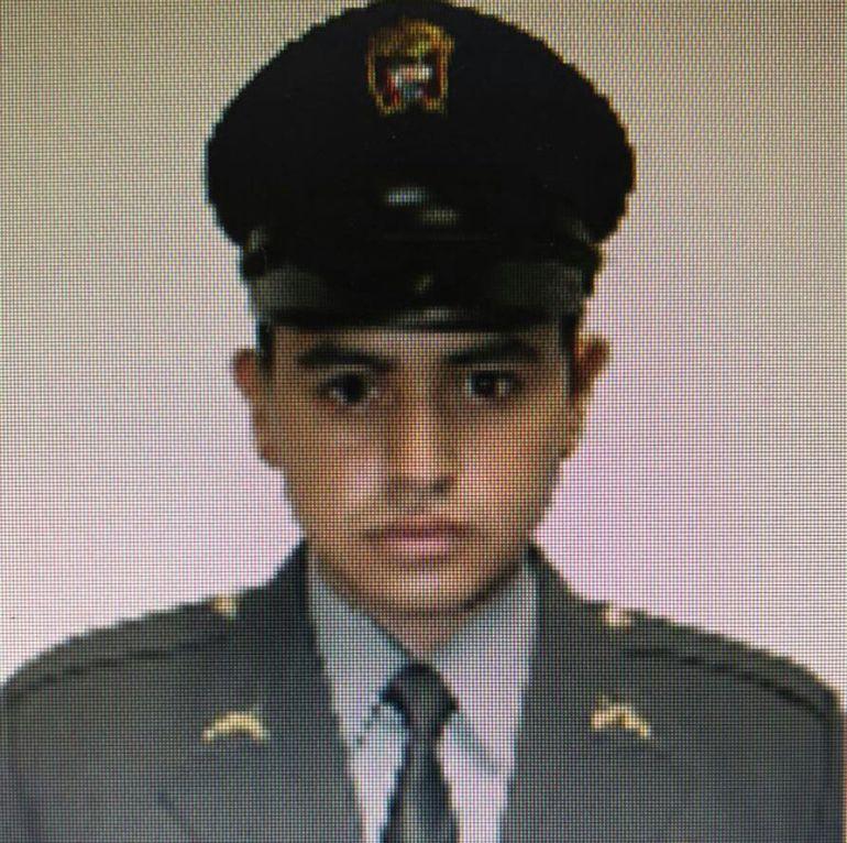 Patrullero de la Policía Walter Arley Chaparro, muerto en la balacera