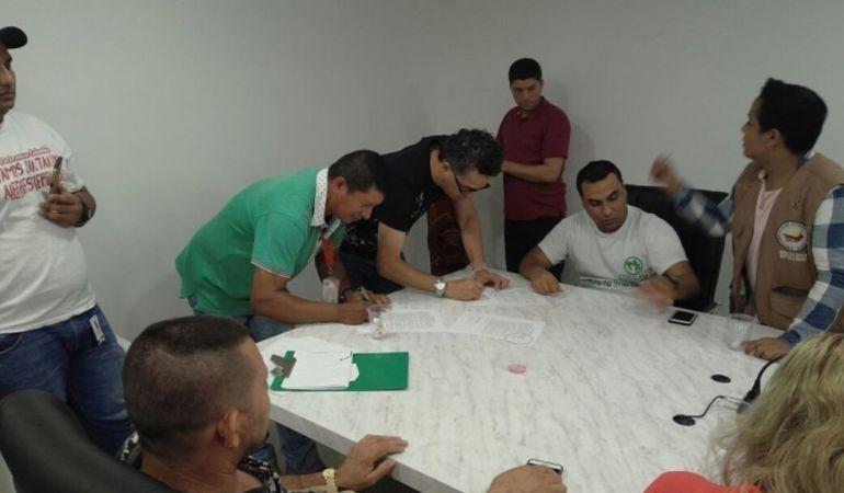 Representantes de la Coccam en Norte de Santander.