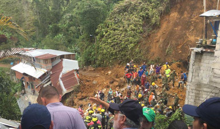 Sitio de emergencia en Marquetalia, Caldas