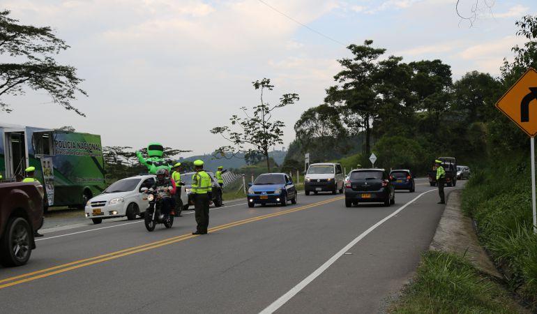 Seguridad, controles policiales, Operativos,: Policía en Caldas registra operativos durante el puente festivo
