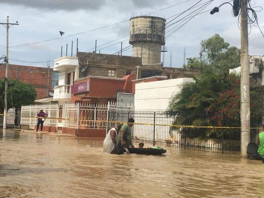 Uribia inundación: Desbordamiento de dos arroyos deja 17 barrios afectados en Uribia