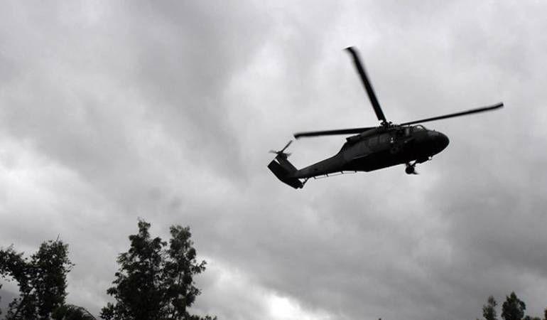 Desapareció helicóptero del Ejército en el sur del Cauca