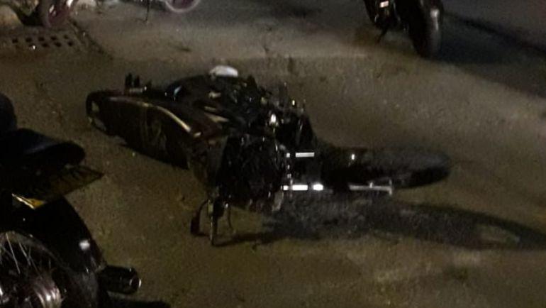 La moto del accidente no sufrió mayores daños, el conductor falleció en el lugar del hecho