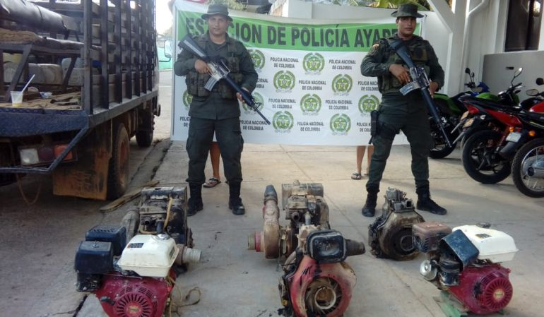 Minería ilegal Córdoba.: Policía incauta maquinaria utilizada para minería ilegal en Ayapel, Córdoba