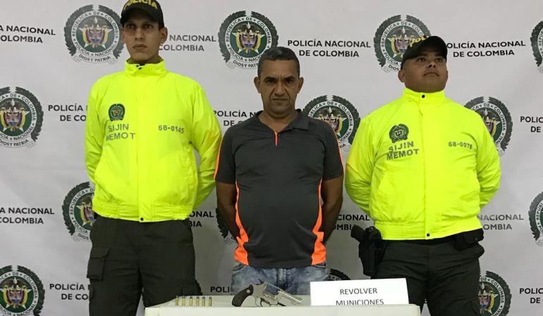 porte ilegal de armas: Unidad de policía logra la captura en flagrancia por porte ilegal de armas