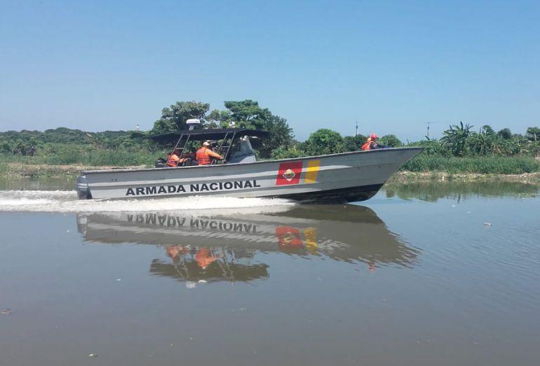 Arroyos: Buzos de Cartagena participan en búsqueda de mujer arrastrada por arroyo