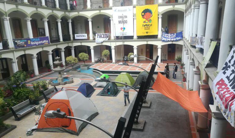 Universidades públicas: Estudiantes se tomaron sede de la gobernación en Pasto