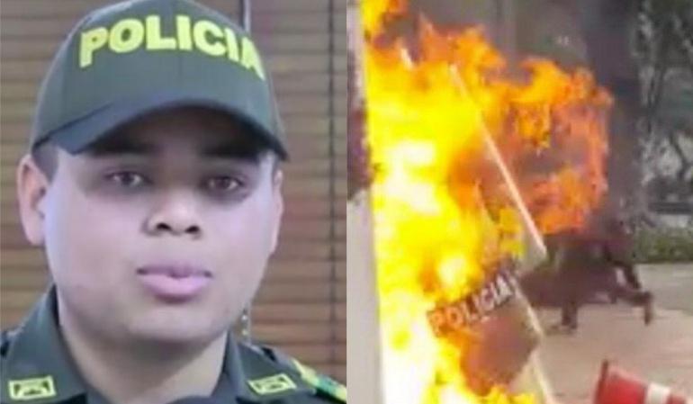 Habla el policía al que se le desató un 'infierno' por el paro estudiantil