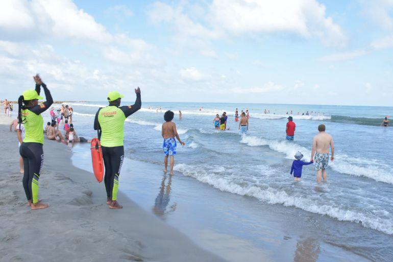 Evite excesos e imprudencias en playas durante las fiestas de Cartagena: Evite excesos e imprudencias en playas durante las fiestas de Cartagena