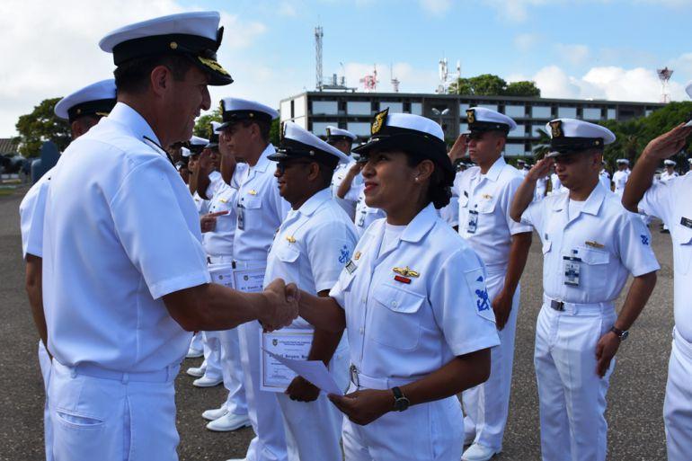 Banda de músicos de la Escuela Naval celebró 80 años de creada: Banda de músicos de la Escuela Naval celebró 80 años de creada