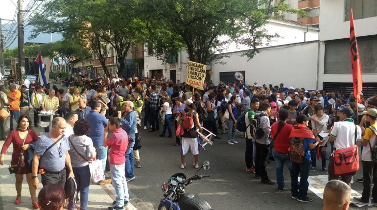 MARCHA, PROTESTESTA, IVA, LEY, DUQUE, CARRASQUILLA, FINANCIAMEINTO: En Medellín también se manifestaron contra el IVA