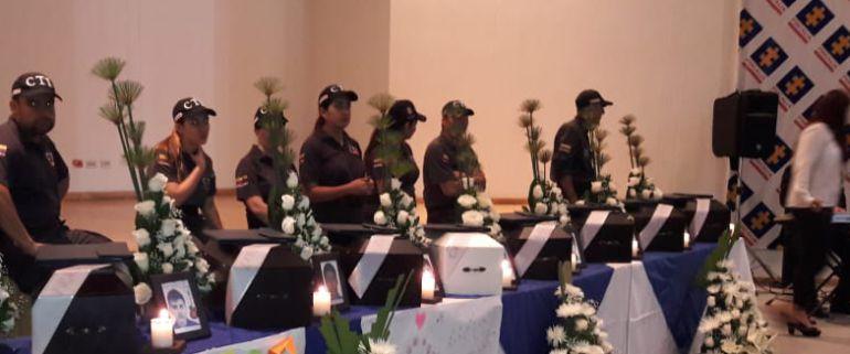 VÍCTIMAS, RESTOS, FISCALÍA, MEDELLÍN, ANTIOQUIA: Fiscalía entregó 9 restos de víctimas del conflicto en Antioquia