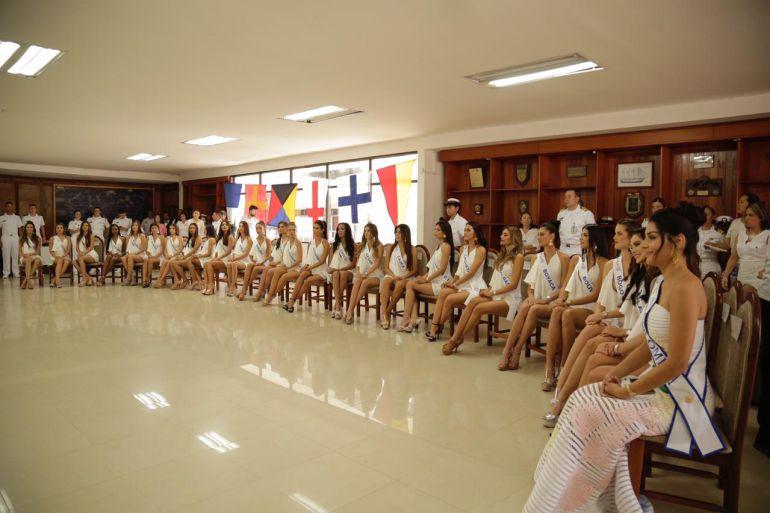 Candidatas al Concurso Nacional de Belleza en la ENAP: Candidatas al Concurso Nacional de Belleza en la ENAP